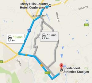 MistyHills to Ruimsig Stadium